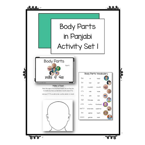 Body Parts Activity Set