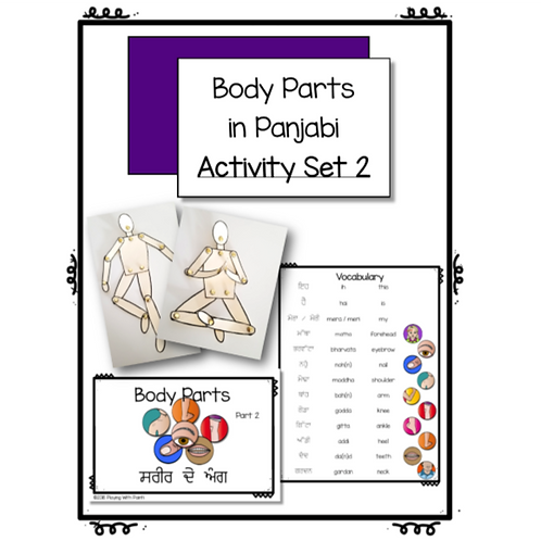 Body Parts Activity Set 2
