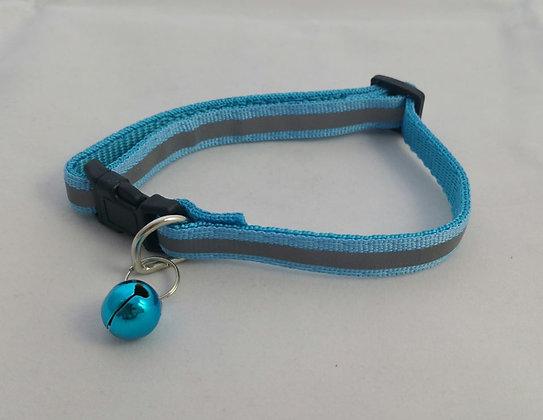 Halsband, reflektierend, hellblau