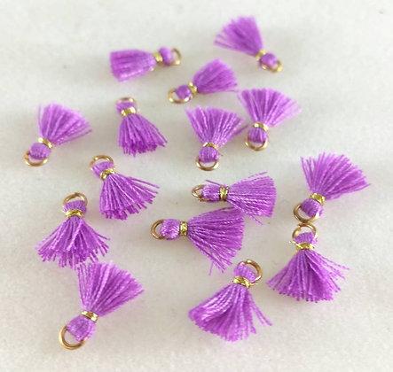 Mini Perlen, Ibiza Style, gold-grell-lila