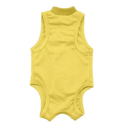 Katze Hygiene Kleidung, gelb