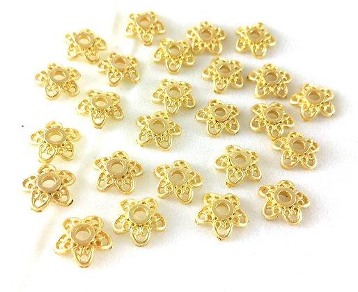 Perlen, Beadcap, Gold (nickelfrei), 10 Stk.