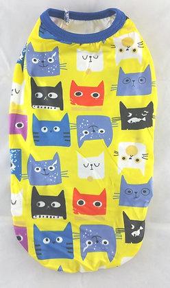 Katzenkleidung, gelb