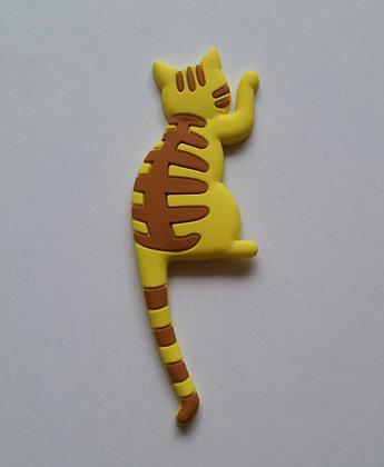 Katze Magnet, gelb-braun