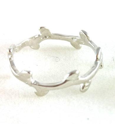 Ring, Leaf Silber