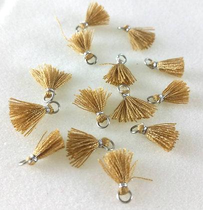 Perlen, Ibiza Style, silber-mustard-brown