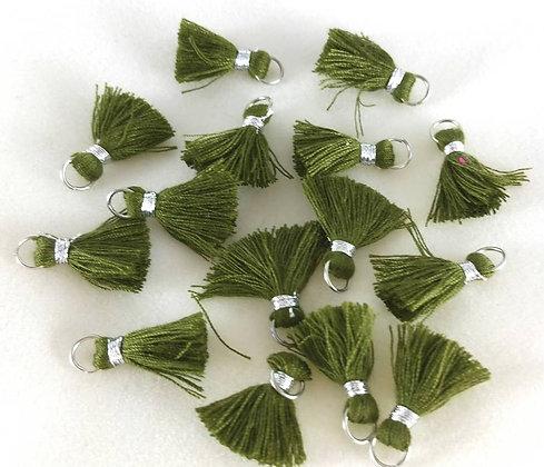 Perlen, Ibiza Style, silber-army-green