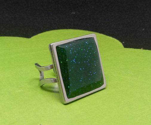 Ring - grün glitzernd