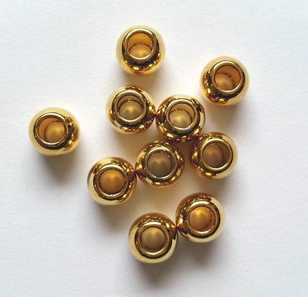 Metall Perlen, Gold