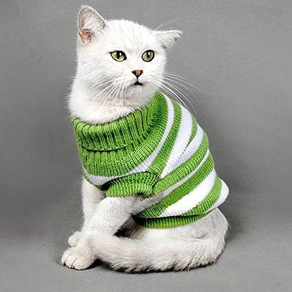 Katze Pullover, grün