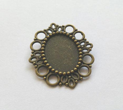 Brosche Fassung, Vintage, oval