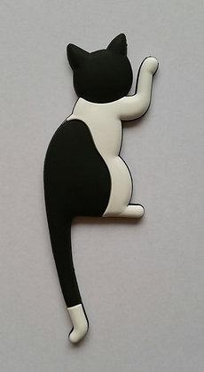 Katze Magnet, schwarz-weiß