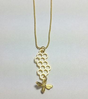 Halskette, Bienenwabe, 45 cm lang