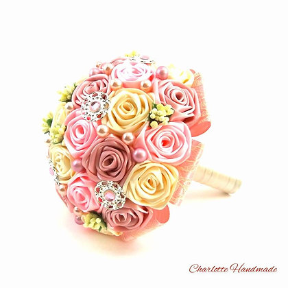 """Satin Ribbon Roses Bouquet - """"Medium"""" Blumenstrauß"""