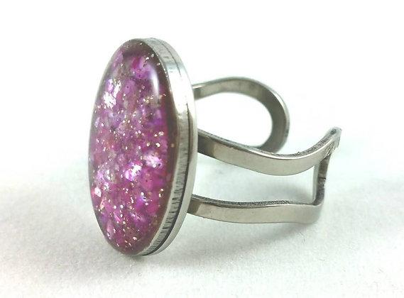Ring - Rosa glitzernd