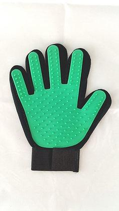 Fellpflege- Handschuhe, grün, rechts