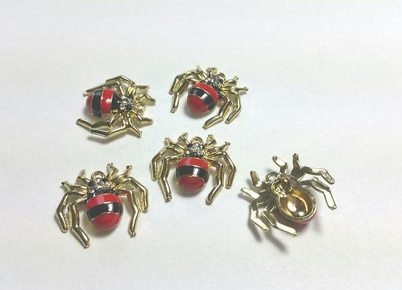 Anhänger, Spinne, rot