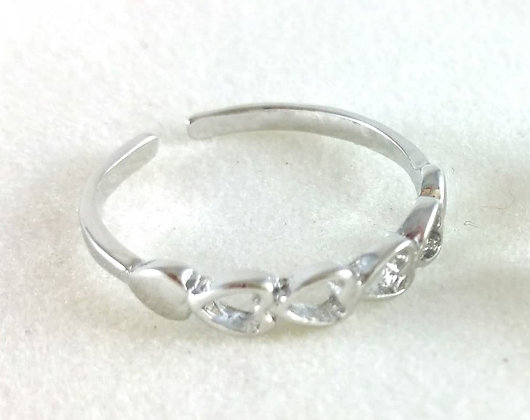 Ring Herzen Silver