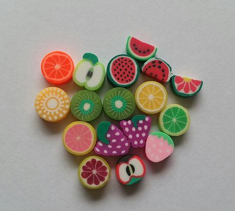 Perlen, Obst
