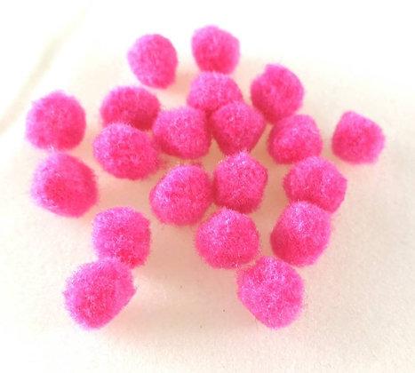 Anhänger, Pompom, raspberry pink