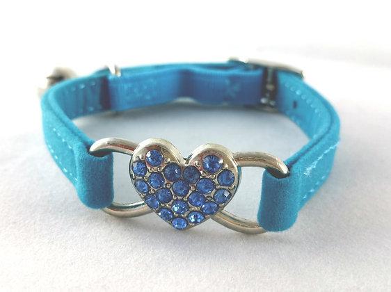 Halsband, Kristall, blau
