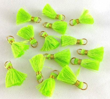 Perlen, Ibiza Style, gold-neon-green