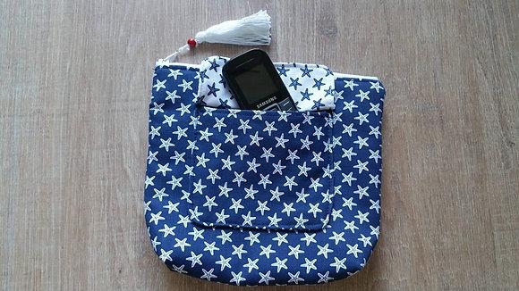 Necessaire mit Außentasche