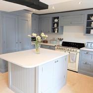 Hand painted bespoke shaker kitchen