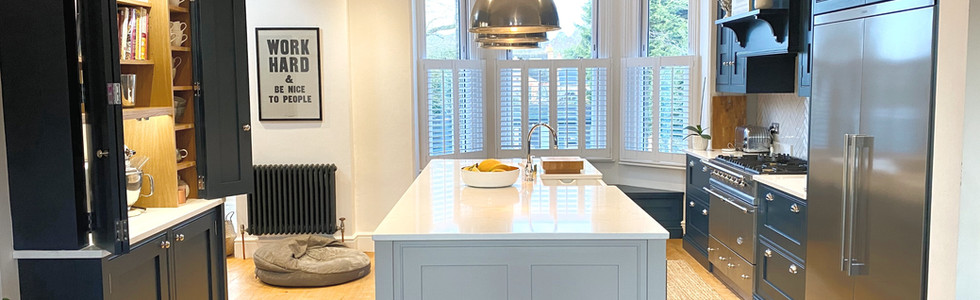 Hand painted in-frame shaker kitchen