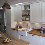 Kitchen by Sinc Kitchens, with solid oak worktop
