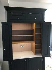 Kitchen pantry unit with bespoke interior