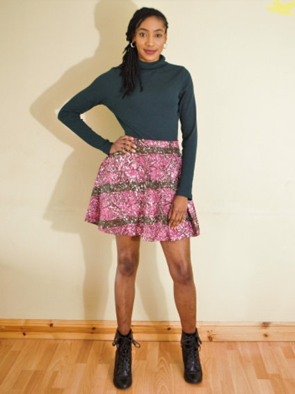 FOLKSHELF A-line Adire mini skirt Co-Ord