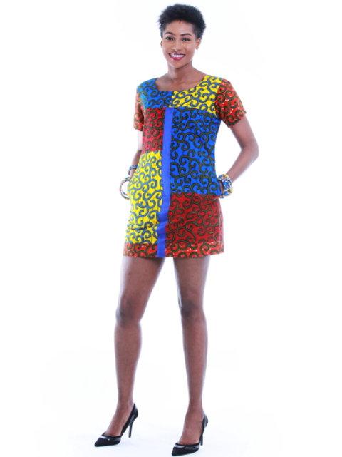 FOLKSHELF African Print Gina Dress