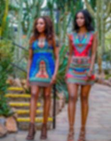 African Fashion Mini Dress