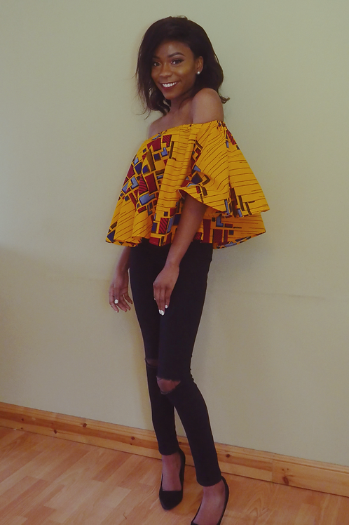 FOLKSHELF African Print Pop Glam Top