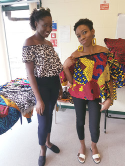 Offshoulder African print tops