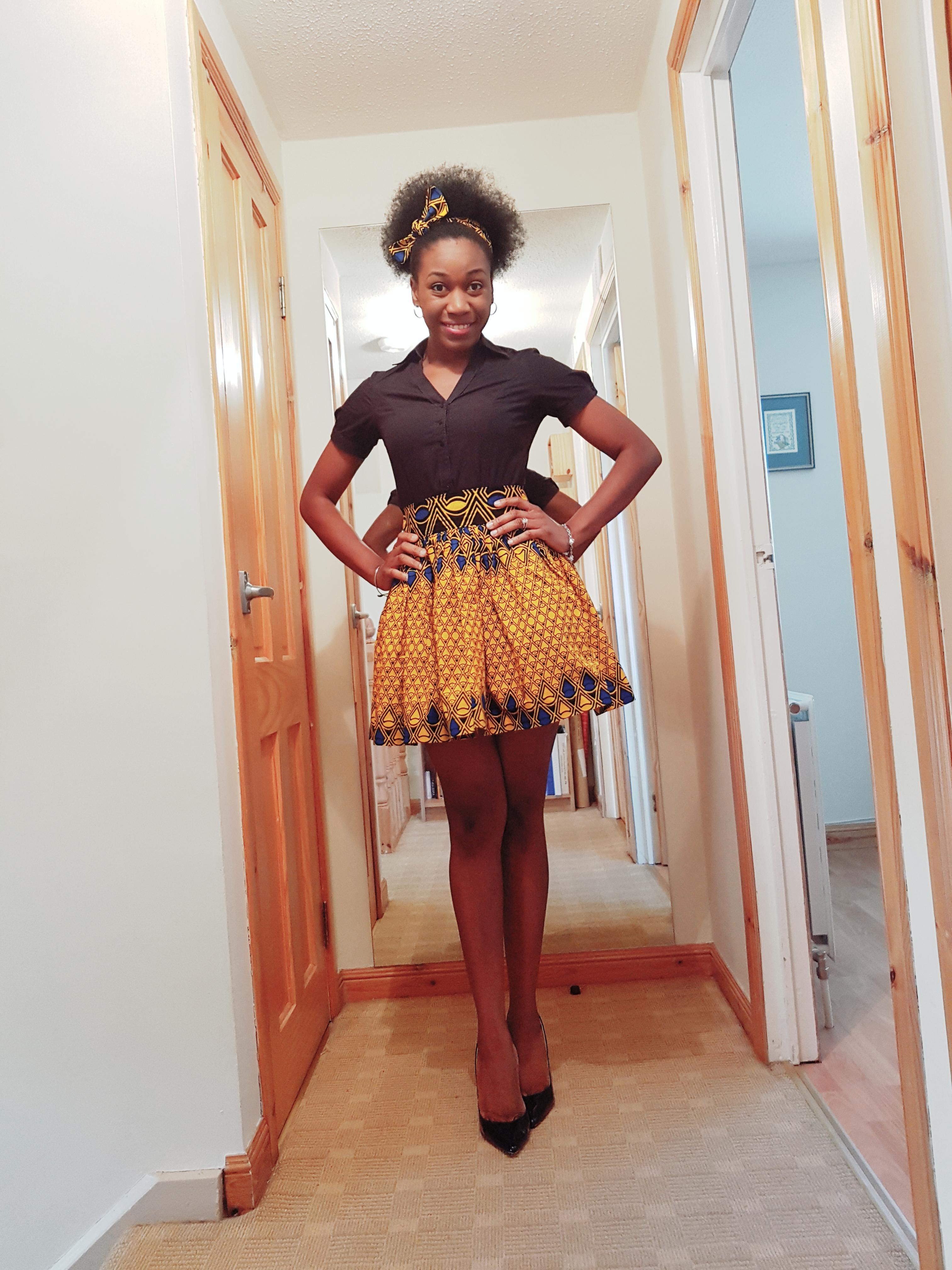 African print high waist tutu skirt