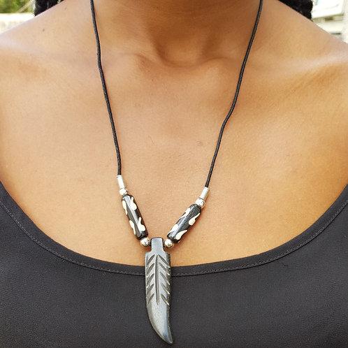 African Fashion Vuvu Bone Necklace