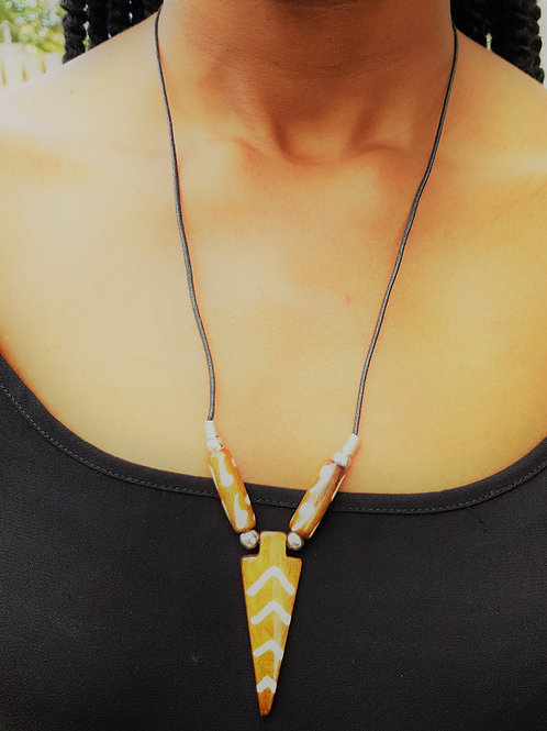 African Fashion Aweh Bone Necklace