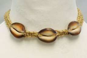 African Fashion Corded Cowrie Shell Choker