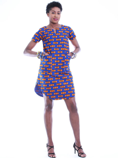 FOLKSHELF African Print Urenna Tshirt Dress