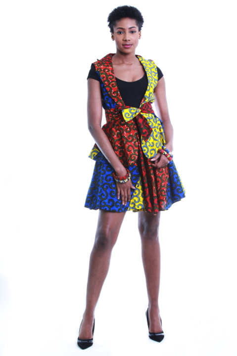 FOLKSHELF African Print Full Flared Skirt Co-Ord