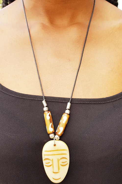 African Fashion Zekee Bone Necklace