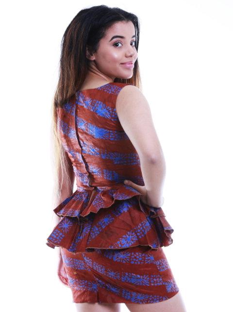 FOLKSHELF Frills Peplum Top & Skirt Co-Ord