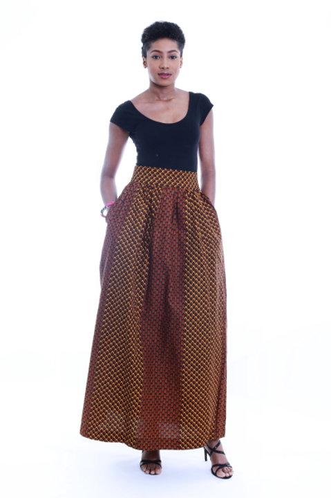 FOLKSHELF African Print Corn Maxi Skirt