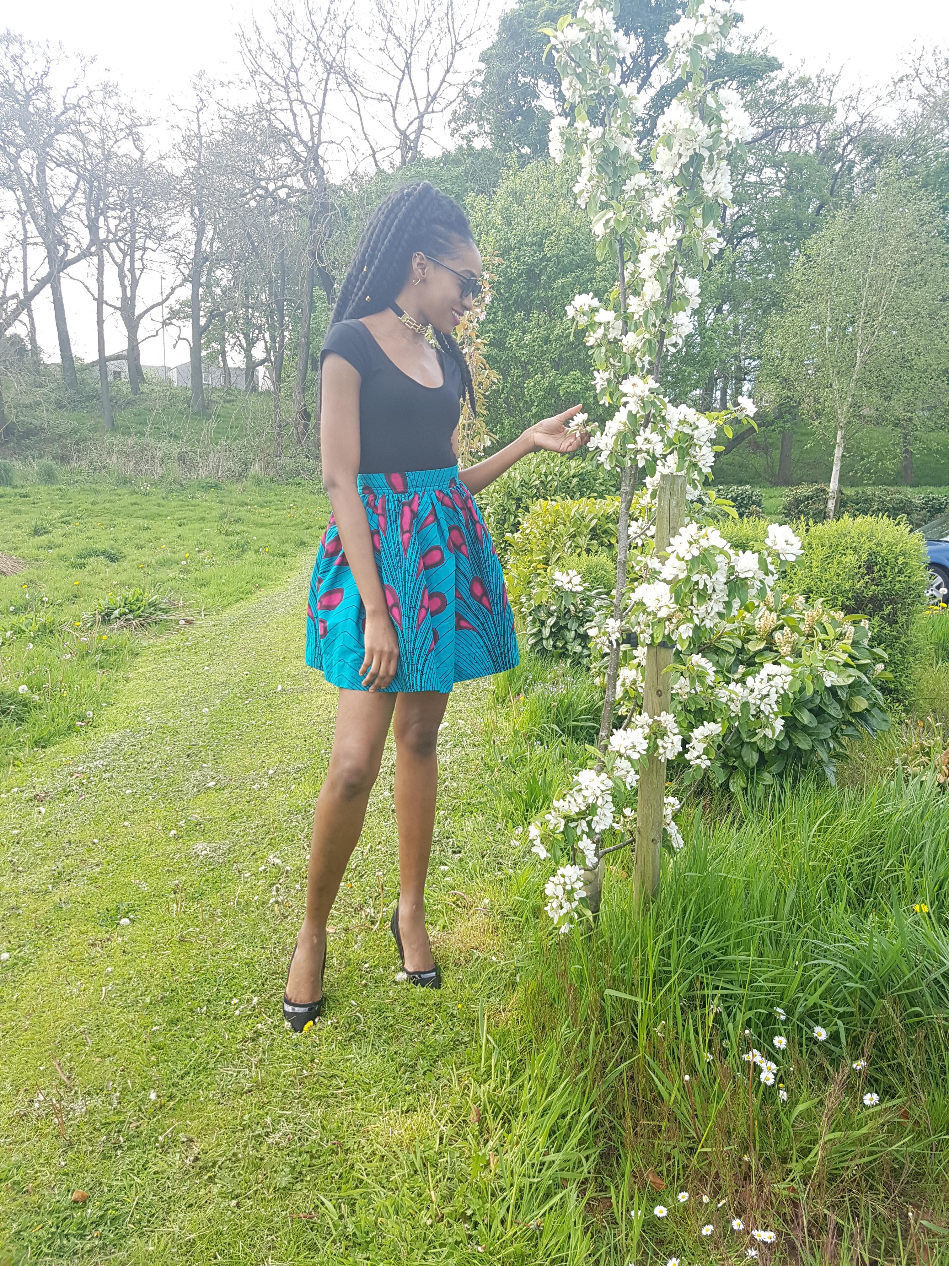 Summer African print skirt fashion