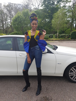 African print outer wear top