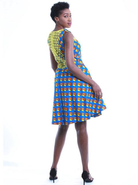 FOLKSHELF Sisi Dress with Back Lace Details
