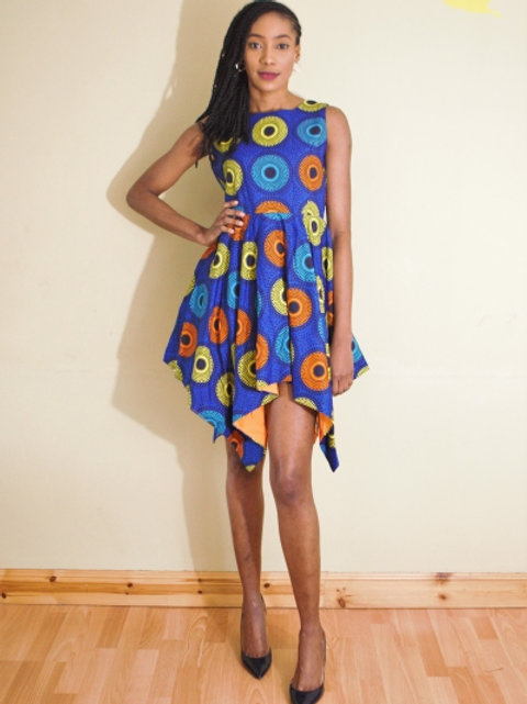 FOLKSHELF African Print Rezi Dress