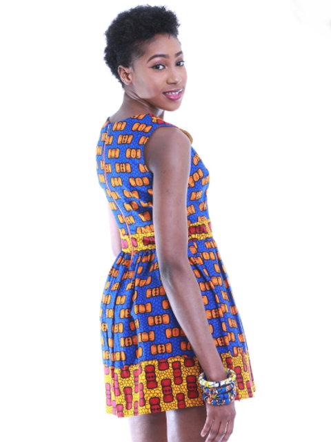 FOLKSHELF African Print Kosi Mini Dress